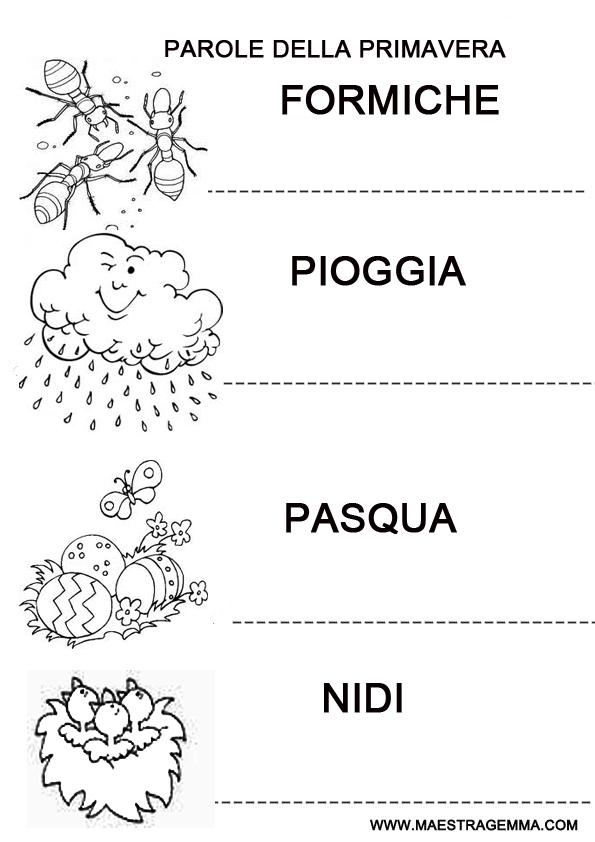 Schede didattiche primavera maestra gemma - Poesie primaverili per la scuola materna ...