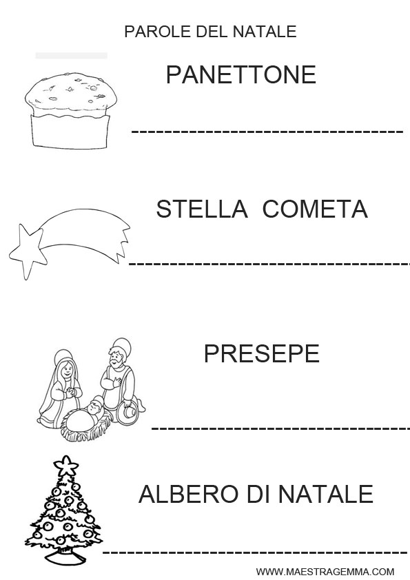 Policy cookie for Schede natale scuola infanzia