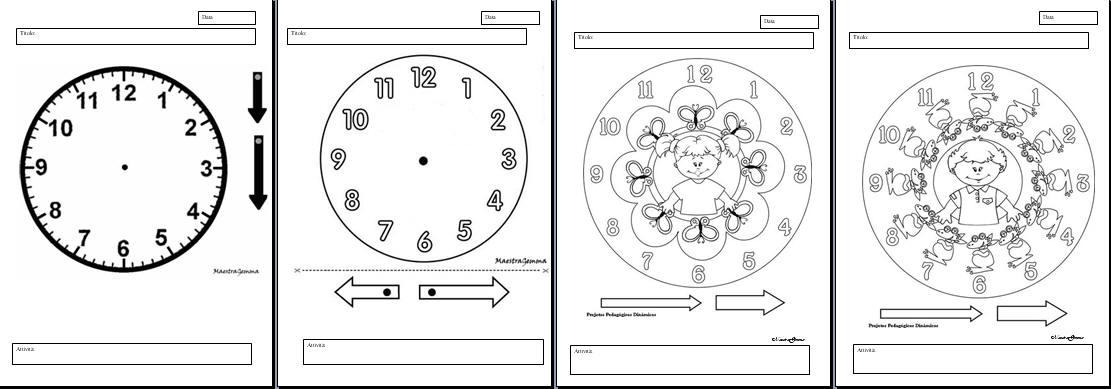 Top Schede didattiche orologio QY45