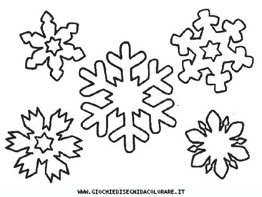 Dei simpatici fiocchi di neve dal sito giochiedisegnidacolorare.it
