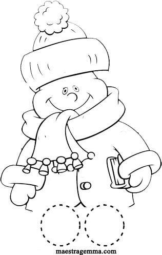 Burattini per le dita con personaggi dell 39 inverno torna a for Maestra gemma schede inverno