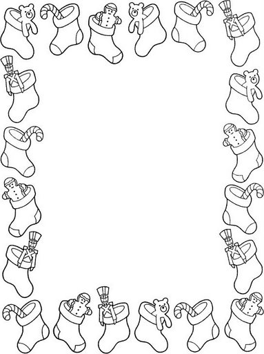 christmas holly border coloring pages - photo#17