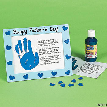 father day crafts ideas l impronta della mano in cornice 4438