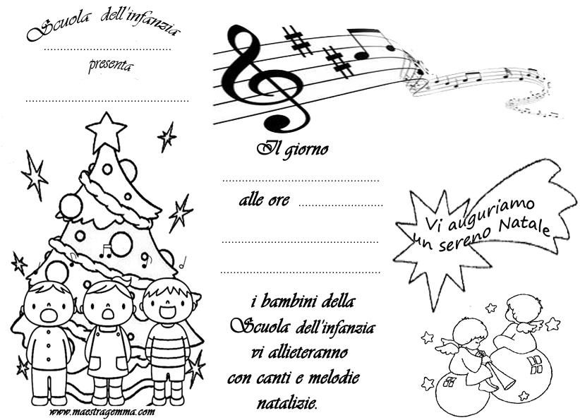 Maestra mary natale biglietti for Lavoretti di natale maestra gemma