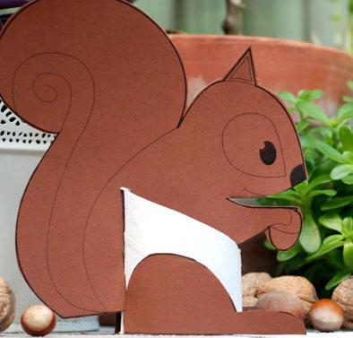 Un simpatico e semplice scoiattolo for Case facili da costruire