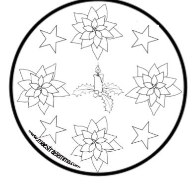 Mandala natalizi for Addobbi natalizi maestra mary