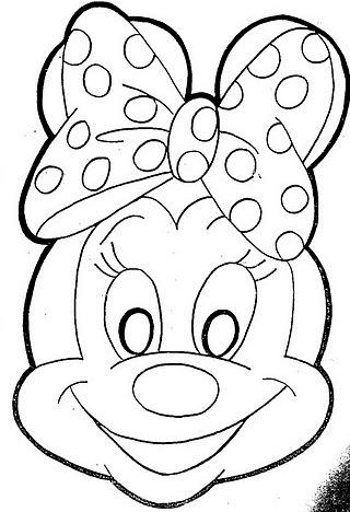 Maschere di personaggi di fumetti fiabe o cartoni a colori for Immagini da colorare di minnie