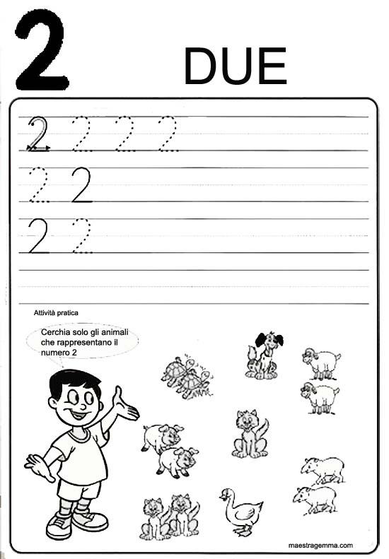 Estremamente Numeri Scuola Infanzia Schede CF92 » Regardsdefemmes UF61