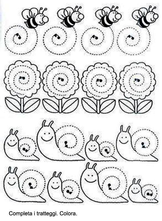 disegni da colorare fiori con scheda didattica