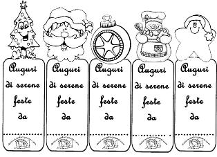 5 segnalibro chiudipacco natalizi for Addobbi natalizi maestra mary