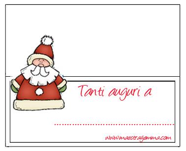 Bigliettini Segnaposto Natalizi Da Stampare.Natale