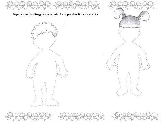 Schede didattiche corpo umano scuola infanzia cq74 pineglen for Schema corporeo scuola infanzia maestra gemma